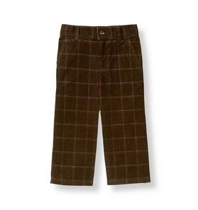 Plaid Corduroy Pant