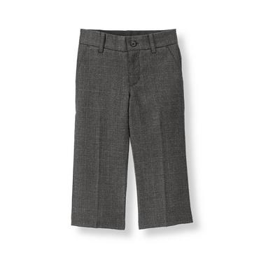 Steel Grey Plaid Glen Plaid Suit Trouser at JanieandJack