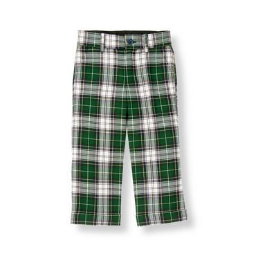 Pine Green Plaid Tartan Suit Trouser at JanieandJack