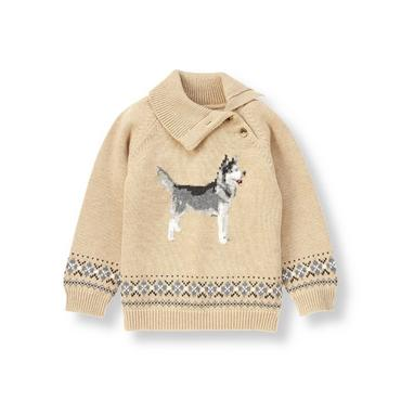 Toasted Almond Husky Dog Sweater at JanieandJack