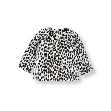 Dalmatian Dot Dalmatian Dot Faux Fur Coat at JanieandJack