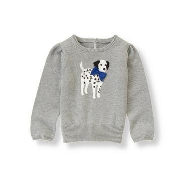 Dark Grey Heather Dalmatian Sweater at JanieandJack