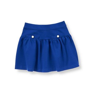 Cobalt Blue Ponte Skirt at JanieandJack