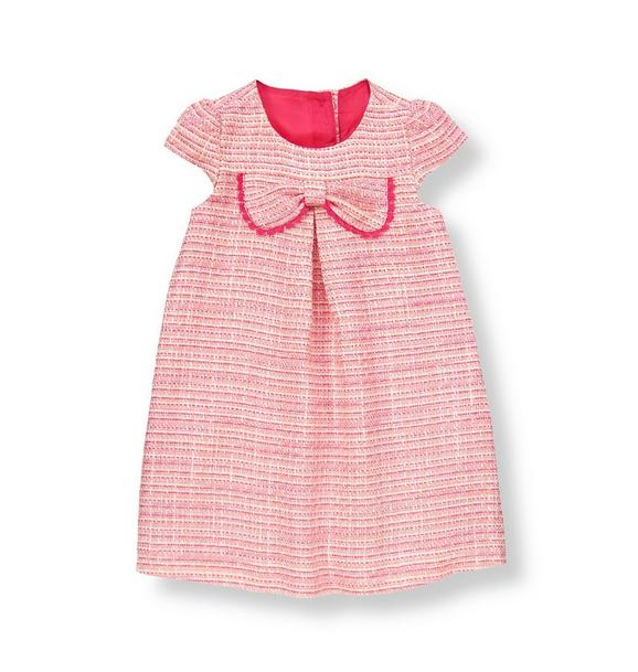 Bow Bouclé Dress