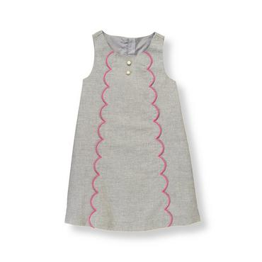 Steel Grey Heather Scalloped Jumper at JanieandJack