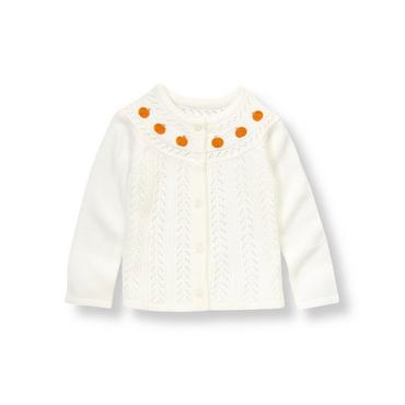 Jet Ivory Pumpkin Sweater Cardigan at JanieandJack