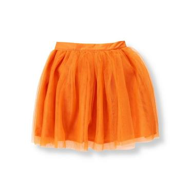 Pumpkin Orange Ruffle Tulle Skirt at JanieandJack