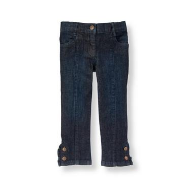 Dark Wash Indigo Ruffle Cuff Denim Jean at JanieandJack
