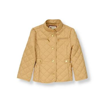 Equestrian Tan Quilted Riding Jacket at JanieandJack