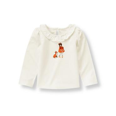 Jet Ivory Girl Fox Top at JanieandJack