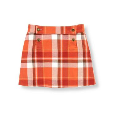 Orange Fox Plaid Plaid Twill Skirt at JanieandJack