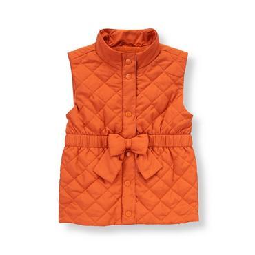 Orange Fox Quilted Vest at JanieandJack