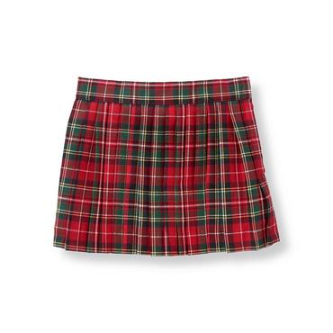 Tartan Red Plaid Plaid Pleated Skirt at JanieandJack