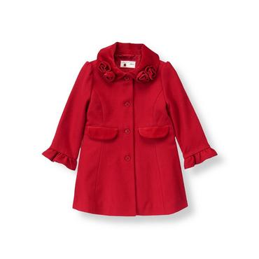 Holiday Red Rosette Dress Coat at JanieandJack