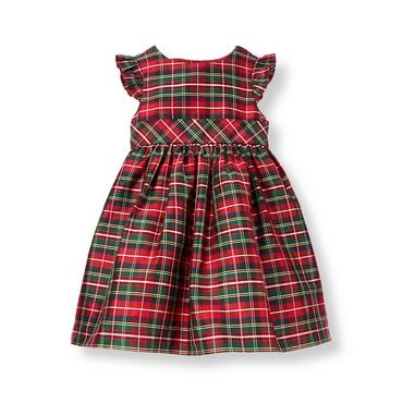 Tartan Red Plaid Plaid Silk Dress at JanieandJack