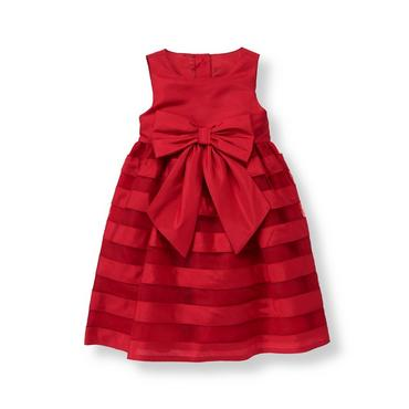 Holiday Red Duppioni Tulle Dress at JanieandJack