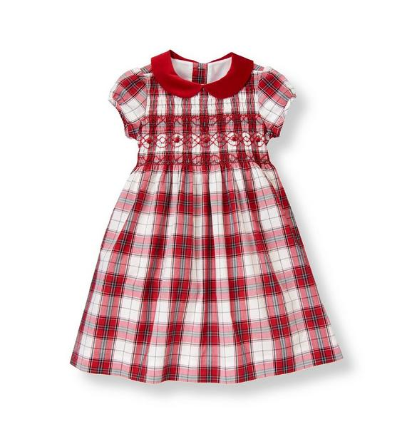 Hand-Smocked Plaid Dress