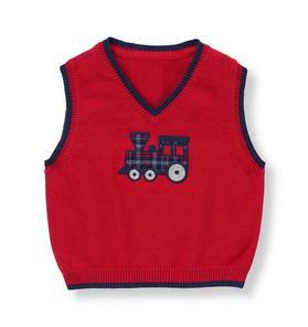 Vintage Train Sweater Vest