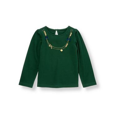 Pine Green Key Necklace Top at JanieandJack