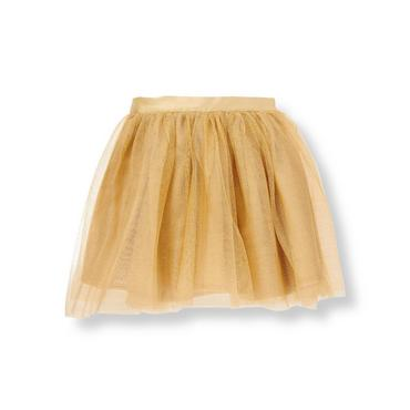 Metallic Gold Metallic Gold Tulle Skirt at JanieandJack