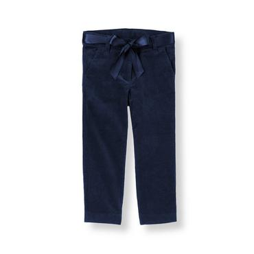 Classic Navy Belted Corduroy Pant at JanieandJack