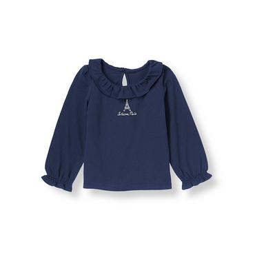 Parisian Navy Paris Tower Top at JanieandJack