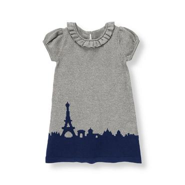 Parisian Grey Paris Metallic Sweater Dress at JanieandJack
