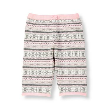 Baby Girl Snow Pink Fair Isle Sweater Pant at JanieandJack
