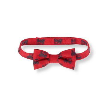 Baby Boy Holiday Red Vintage Train Bowtie at JanieandJack