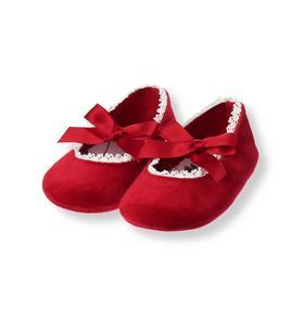 Velveteen Crib Shoe