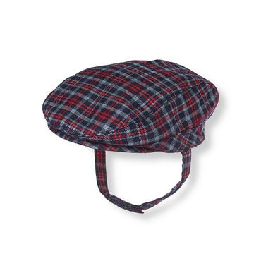 Baby Boy Midnight Navy Plaid Plaid Suit Cap at JanieandJack