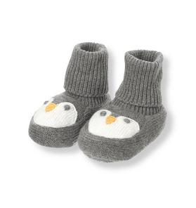 Penguin Sweater Crib Bootie