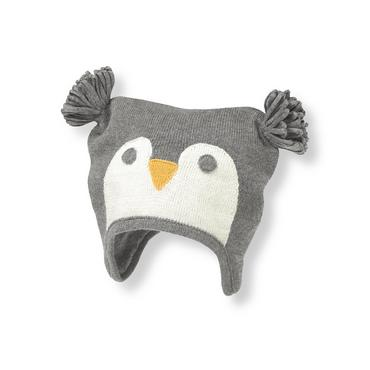 Penguin Grey Penguin Earflap Hat at JanieandJack