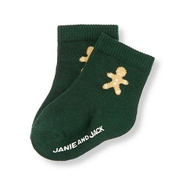 Pine Green Gingerbread Sock at JanieandJack