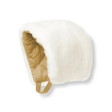 Jet Ivory Faux Fur Bonnet at JanieandJack