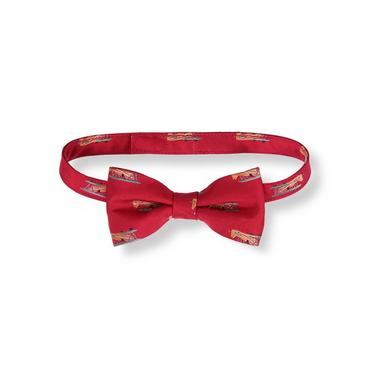 Boys Holiday Red Vintage Plane Bowtie at JanieandJack