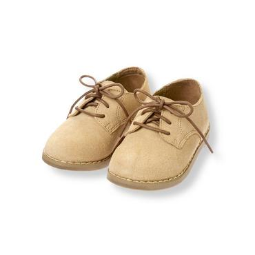 Toasted Almond Suede Oxford Shoe at JanieandJack