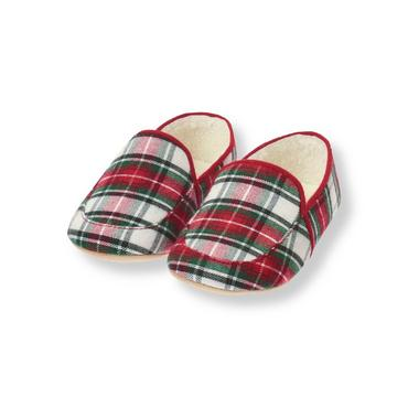 Red Holly Plaid Plaid Slipper at JanieandJack