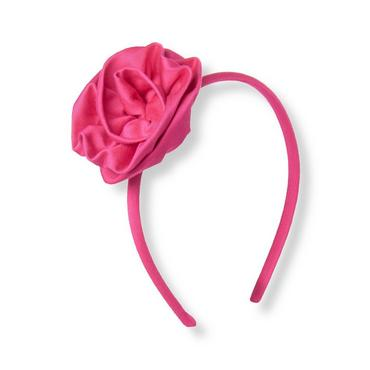Raspberry Pink Rosette Headband at JanieandJack