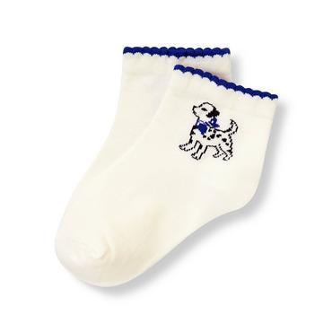 Jet Ivory Dalmatian Sock at JanieandJack