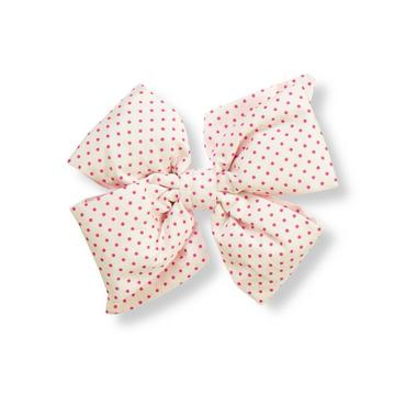 Raspberry Pink Dot Dot Bow Barrette at JanieandJack