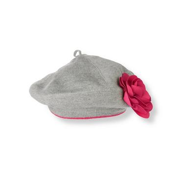 Steel Grey Heather Rosette Sweater Beret at JanieandJack