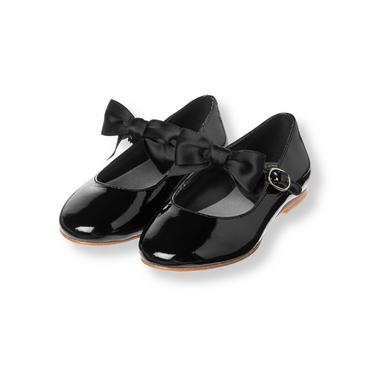 Classic Black Bow Patent Leather Shoe at JanieandJack