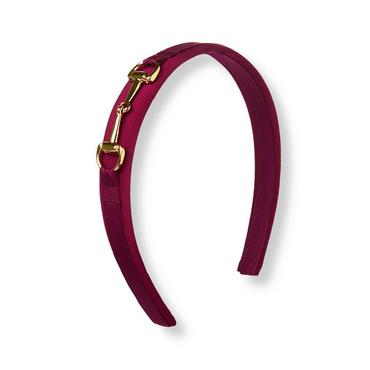 Burgundy Berry Bridle Headband at JanieandJack