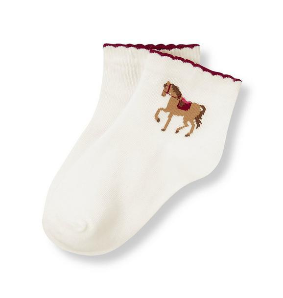 Equestrian Horse Sock