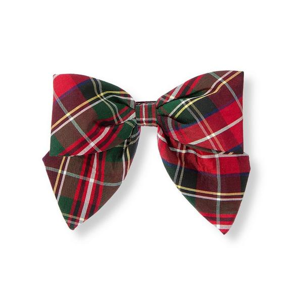 Tartan Plaid Silk Bow Barrette