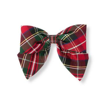 Tartan Red Plaid Tartan Plaid Silk Bow Barrette at JanieandJack
