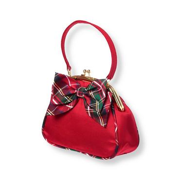 Holiday Red Tartan Plaid Bow Purse at JanieandJack