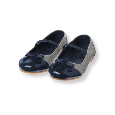 Parisian Grey Colorblock Ballet Flat at JanieandJack