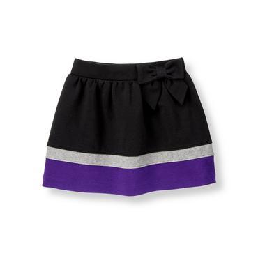 Classic Black Colorblock Ponte Skirt at JanieandJack